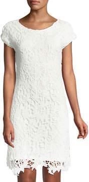 Chelsea & Theodore Crochet-Lace Sheath Dress