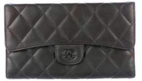 Chanel Quilted CC Continental Wallet