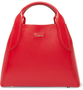 Lanvin Cabas Mini Leather Tote - Red