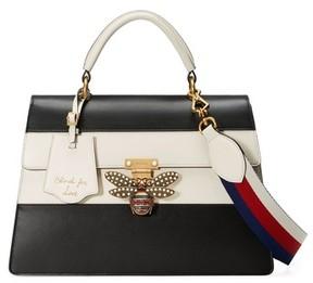 Gucci Queen Margaret Top Handle Leather Satchel - Black - BLACK - STYLE