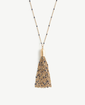 Ann Taylor Burnished Tassel Pendant