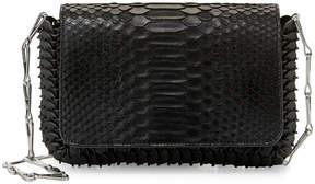 Paco Rabanne Small Python Shoulder Bag, Black