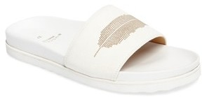 Buscemi Women's Crepone Feather Slide Sandal