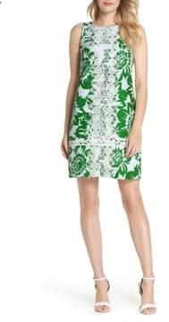 Eliza J Sleeveless Stretch Cotton Shift Dress