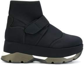 Marni ridged sole hi-top sneakers