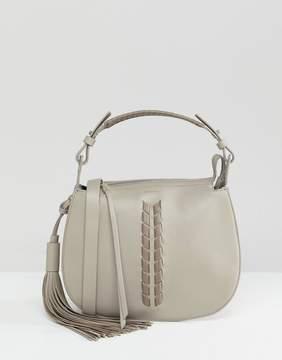AllSaints Contrast Leather Detail Shoulder Bag