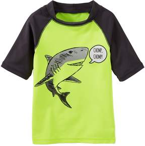 Osh Kosh Oshkosh Bgosh Toddler Boy Shark Raglan Rash Guard