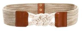 Tory Burch Leather-Trimmed Waist Belt