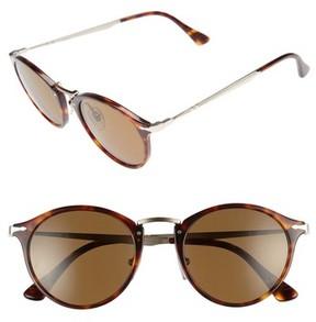 Persol Men's Sartoria Typewriter 51Mm Polarized Sunglasses - Havana/ Brown