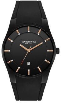 Kenneth Cole Slim Silicon Strap Round Watch