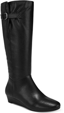 Style&Co. Style & Co Rainne Wedge Tall Boots, Created for Macy's Women's Shoes