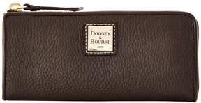 Dooney & Bourke Pebble Grain Zip Clutch - BLACK BLACK - STYLE