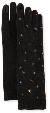 Portolano Open-Knit Star Cashmere Gloves