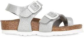 Birkenstock Glittered Faux Patent Leather Sandals