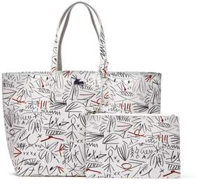 Lacoste Women's Anna Reversible Bicolor Egyptian Print Tote Bag