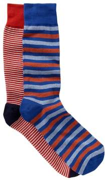 Lorenzo Uomo Italian Cotton Blend Crew Socks - Pack of 2