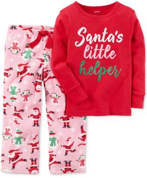 Carter's 2-Pc. Santa's Little Helper Pajama Set, Little Girls (4-6X) & Big Girls (7-16)