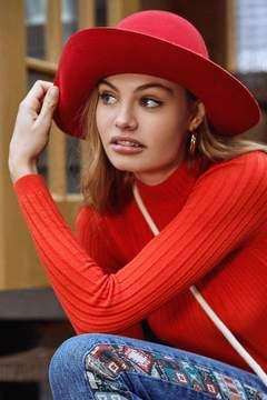 Urban Outfitters Annie Felt Bowler Hat