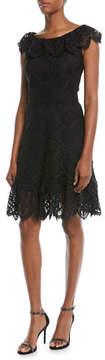 Shoshanna Agustina Lace Cap-Sleeve Dress