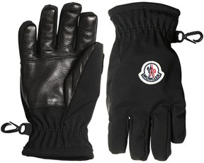 Moncler Stretch Technique Nylon & Leather Gloves