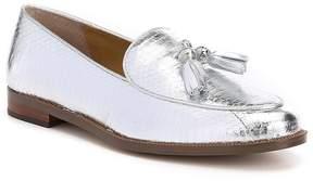 Lauren Ralph Lauren Brindy Metallic Matte Snake Tassel Loafers