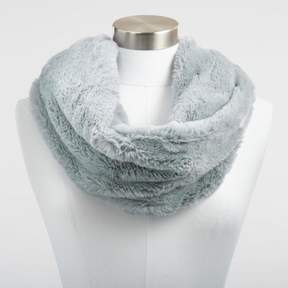 World Market Gray Faux Fur Snood Scarf