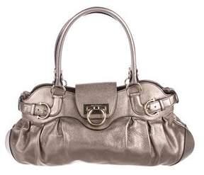 Salvatore Ferragamo Leather Gancio Lock Bag