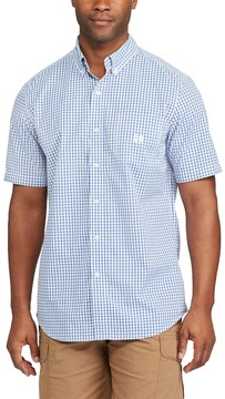 Chaps Big & Tall Classic-Fit Tattersall Checked Easy-Care Button-Down Shirt