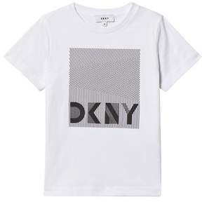 DKNY White Branded Graphic Tee