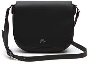Lacoste Women's Daily Classic Coated Pique Canvas Round Crossover Bag