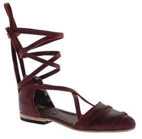 Freebird By Steven Women's Eryn Ankle Tie D'orsay Flat.