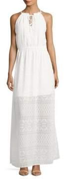 Betsey Johnson Tie-Front Halter Dress