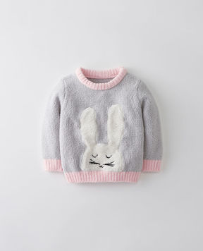 Hanna Andersson Critters + Hugs Marshmallow Sweater
