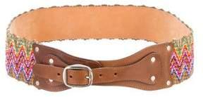 Etro Multicolor Straw Belt