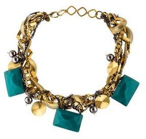 Erickson Beamon Woven Resin & Crystal Collar Necklace