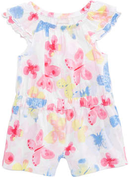 First Impressions Butterfly-Print Romper, Baby Girls (0-24 months), Created for Macy's