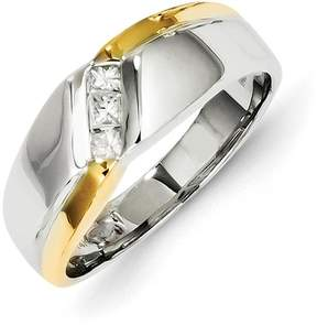 Ice 14k Two-tone Diamond Mens Ring