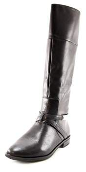 Alfani Egila Women Round Toe Leather Black Knee High Boot.