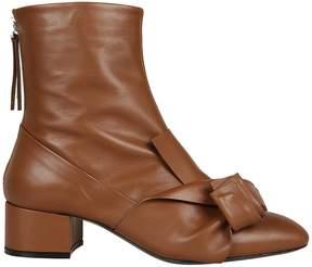 N°21 N.21 N 21 Folded Ruffle Ankle Boots