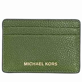 Michael Kors Money Pieces Leather Card Holder- True Green - TRUE GREEN - STYLE