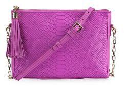 GiGi New York Hailey Embossed Python Leather Crossbody Bag