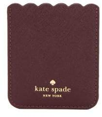 Kate Spade Scallop Sticker Leather Card Case - DEEP PLUM - STYLE