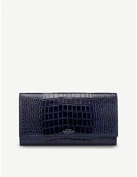 Smythson Mara leather travel wallet