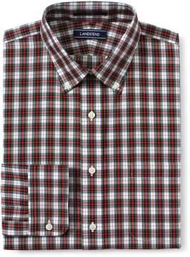 Lands' End Lands'end Men's Traditional Fit Pattern No Iron Poplin Dress Shirt