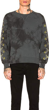 Remi Relief Tie-Dye Sleeve Skull Fleece