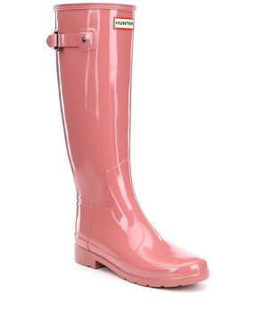 Hunter Women's Original Refined Gloss Buckle Strap Rain Boots