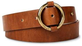 Mossimo Women's Belt with Ring Buckle Tan