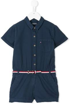 Tommy Hilfiger Junior belted playsuit