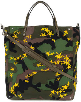 Valentino camouflage print shopper bag