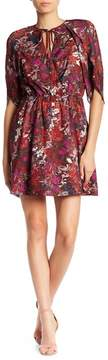 Adelyn Rae Francesca Tulip Sleeve Printed Dress